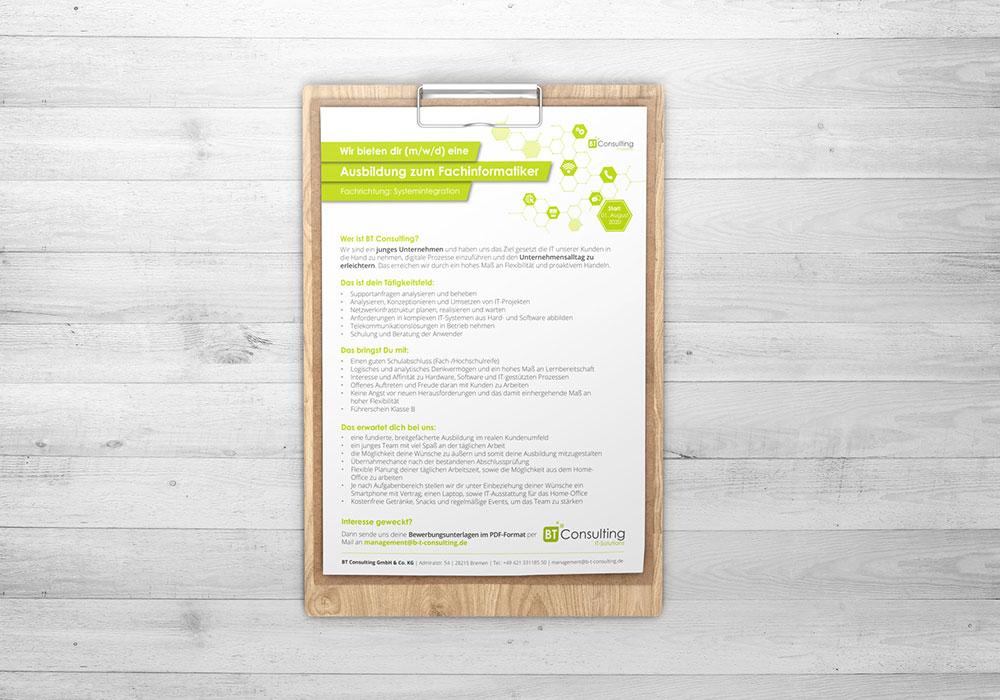 Werbeagentur Bremen Stellenanzeige von BT Consulting