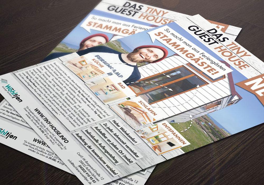 Werbeagentur Bremen Flyer von TIny Guest House