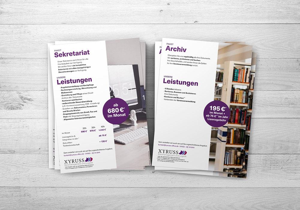 Werbeagentur Bremen Flyer von Xyruss