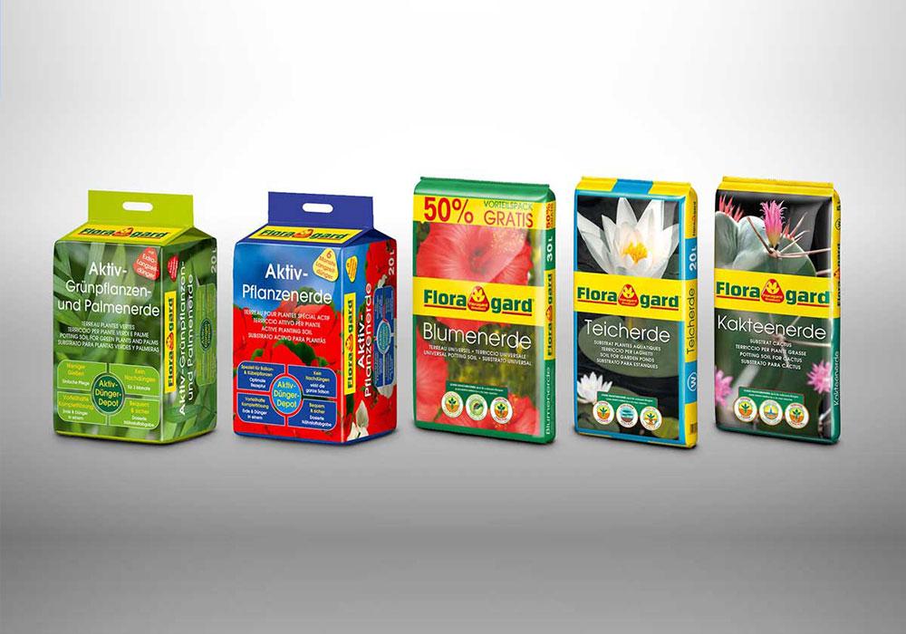 Werbeagentur Bremen Verpackung für Blumenerde von Floragard