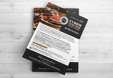 Werbeagentur Bremen Flyer von Restaurant Oberneulander's Abbildung