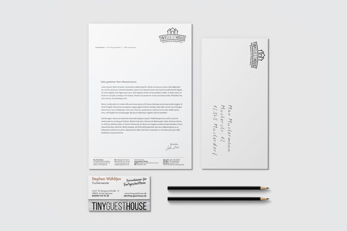 Werbeagentur BremenGeschäftsmaterial von Tiny Guest House