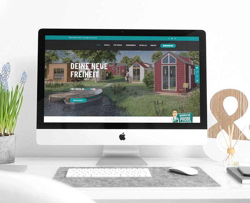 Werbeagentur Bremen Website von Tiny Houses by Woehltjen