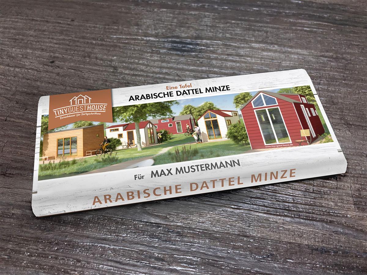 Werbeagentur Bremen Schokoladentafel für Tiny Guest House