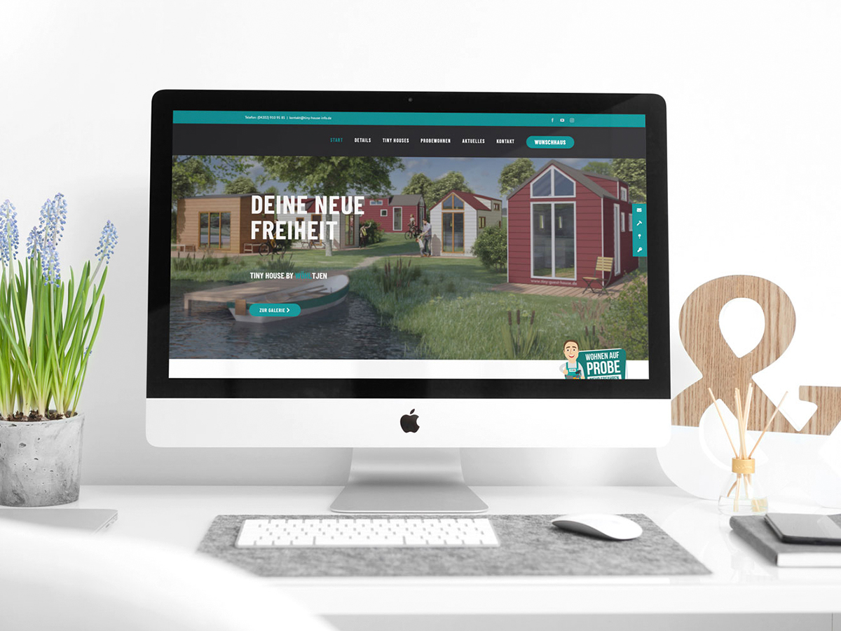 Werbeagentur Bremen Website von Tiny House by Woehltjen