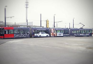 Werbeagentur Bremen Strabenbahnwerbung von Autoweller
