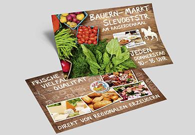 Werbeagentur Bremen Flyer vom Bauernmarkt
