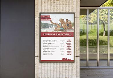 Werbeagentur Bremen Preisplakat von der Apotheke am Rathaus