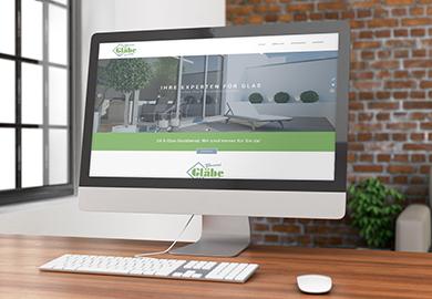 Werbeagentur Bremen Website der Glaserei Gläbe