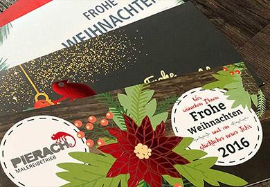 Werbeagentur Bremen Weihnachtskarten von Maler Pierach Abbildung