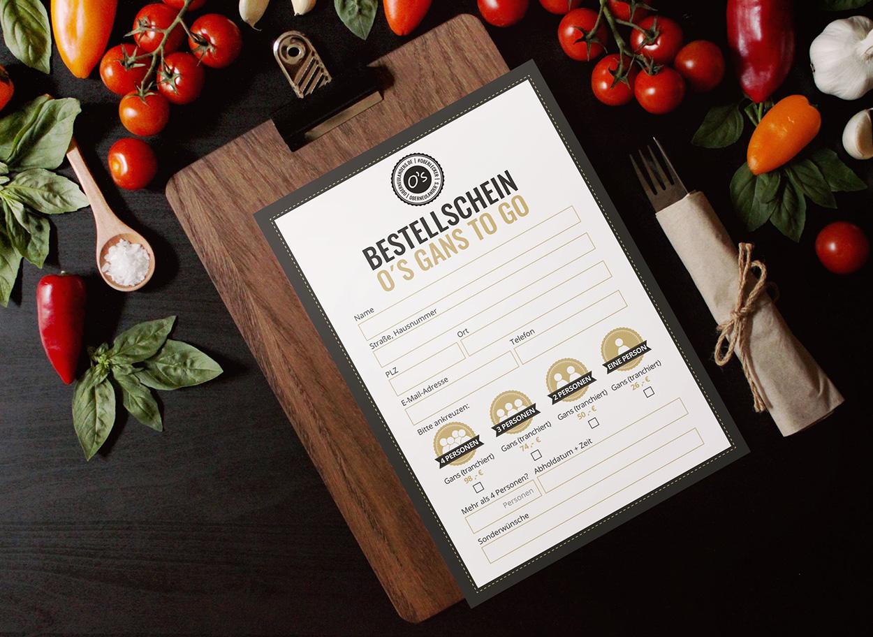 Werbeagentur Bremen Flyer vom Restaurant Oberneulanders