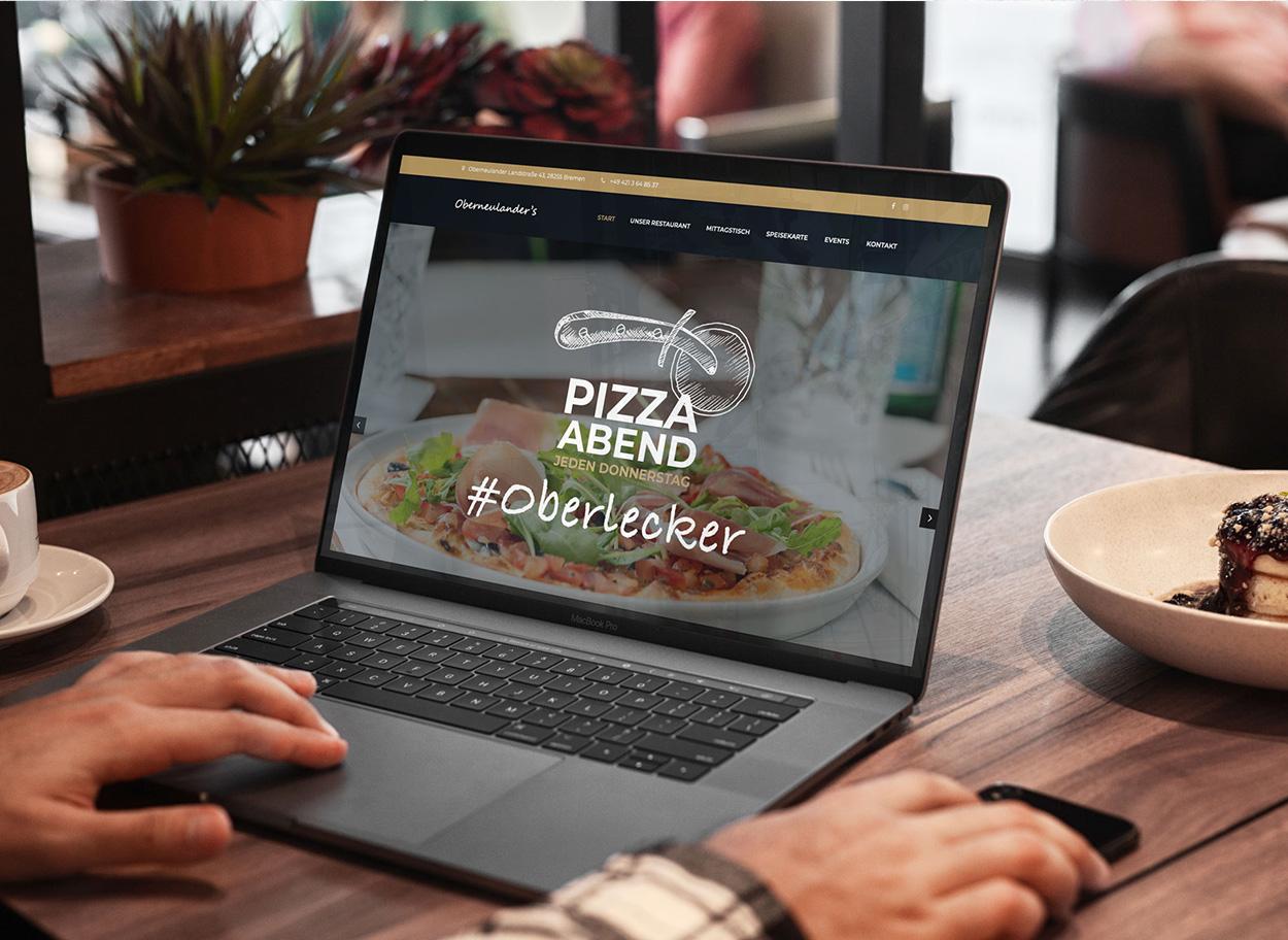 Werbeagentur Bremen Website des Restaurants Oberneulanders