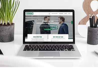 Werbeagentur Bremen Website von VEMAG Stellenanzeigen