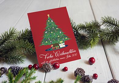 Werbeagentur Bremen Weihnachtskarte der Glaserei Richter