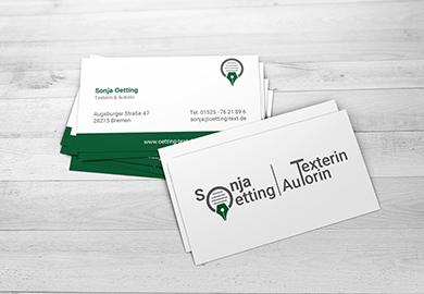 Werbeagentur Bremen Visitenkarten von Sonja Oetting