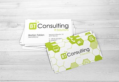 Werbeagentur Bremen Visitenkarten von BT Consulting