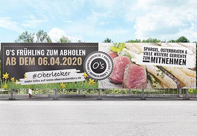 Werbeagentur Bremen Aussenwerbung Oberneulanders Banner Abbildung