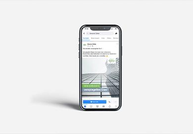 Werbeagentur Bremen Social-Media Glaserei Gläbe Abbildung von Smartphone