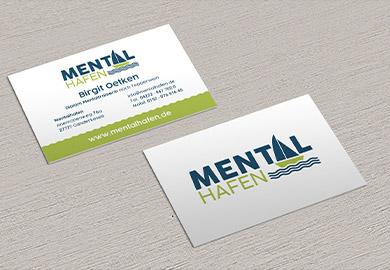 Werbeagentur Bremen Visitenkarten von Mentalhafen Abbildung