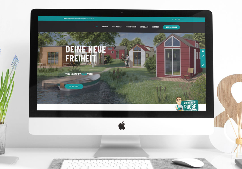 Werbeagentur Bremen Website Tiny House by Wöhltjen Startseite