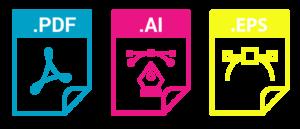 CMYK Farben geeignete Dateiformate