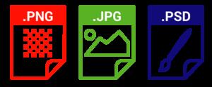 RGB Farben geeignete Dateiformate